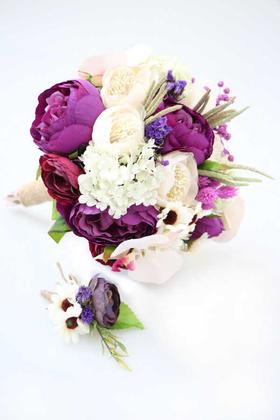 Yapay Çiçek Deposu - Mimoza Gelin Çiçeği 2li Set