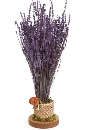 Yapay Çiçek Deposu - Mini Vazoda Kokulu Şoklanmıs Lavanta Tanzimi 35 cm