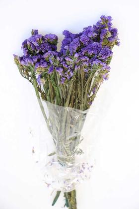 Yapay Çiçek Deposu - Şoklanmış Statis Çiçeği Demeti 50 cm Mor