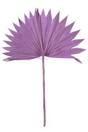 Yapay Çiçek Deposu - 4lü Kuru Tropic Palmiye Yaprağı 40 cm Mor