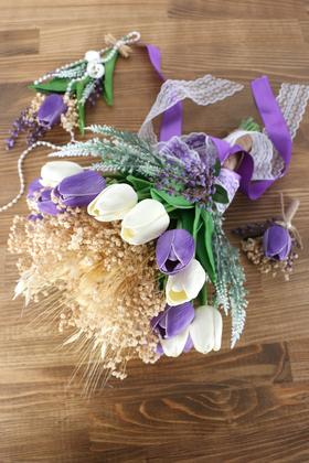Yapay Çiçek Deposu - Palace Yapay Gelin Çiçeği 3lü Set