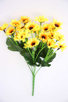 Yapay Çiçek Deposu - Yapay 24lü Papatya Demeti Sarı