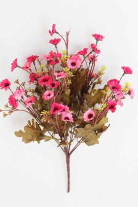 Yapay Çiçek Deposu - Yapay Cipsolu 10 Dal Papatya Demeti Pembe