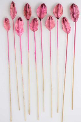 Yapay Çiçek Deposu - 10lu Tropic Lily Center on Stem 50 cm Şeker Pembe