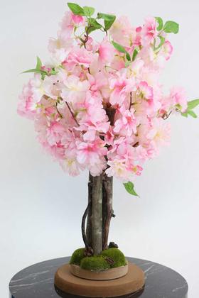 Yapay Çiçek Deposu - Yapay Minik Bahar Dalı Ağacı 55 cm Pembe
