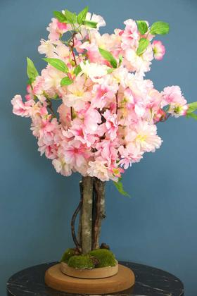 Yapay Minik Bahar Dalı Ağacı 55 cm Pembe - Thumbnail