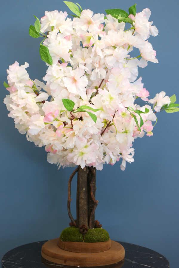 Yapay Minik Bahar Dalı Ağacı 55 cm Açık Pembe