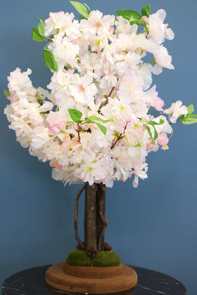 Yapay Çiçek Deposu - Yapay Minik Bahar Dalı Ağacı 55 cm Açık Pembe