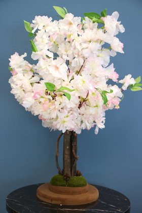 Yapay Minik Bahar Dalı Ağacı 55 cm Açık Pembe - Thumbnail