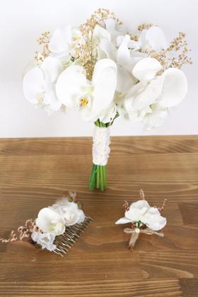 Yapay Çiçek Deposu - Phalaina Yapay Gelin Çiçeği 3lü Set