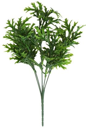 Yapay Çiçek Deposu - Plastik Kırçıllı Yeşillik Demeti 34 cm