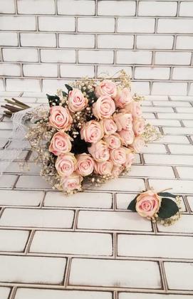 Yapay Çiçek Deposu - Cipso Karnavalı Pudra Pembesi Gelin Çiçeği 2li Set