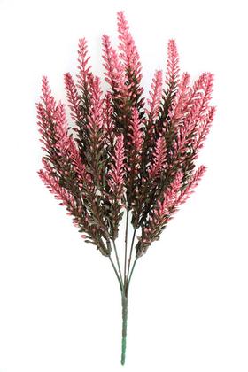 Yapay Çiçek Deposu - Yapay Fosforlu Lavanta Demeti 35 İri Kafa Fuşya