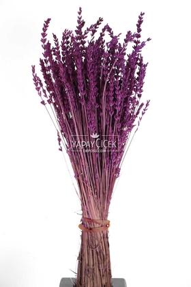 Yapay Çiçek Deposu - Şoklanmış Dökülmeye Dayanıklı Gerçek Lavanta Demeti Mürdüm (100 gr)