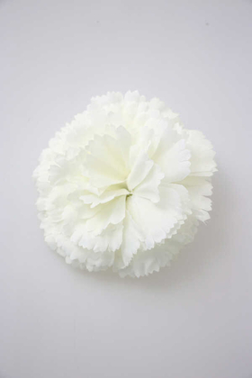 Yapay Çiçek Deposu - Yapay Tek Kafa Karanfil 10 cm Beyaz