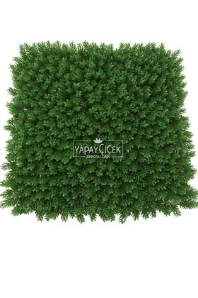 Yapay Çiçek Deposu - Yapay Çamdalı Model Duvar Bitki Kaplaması 50x50 cm Koyu Yeşil
