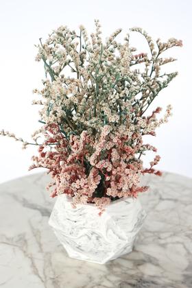 Yapay Çiçek Deposu - Dekoratif Beton Saksıda Şoklanmış Tatarika 20 cm