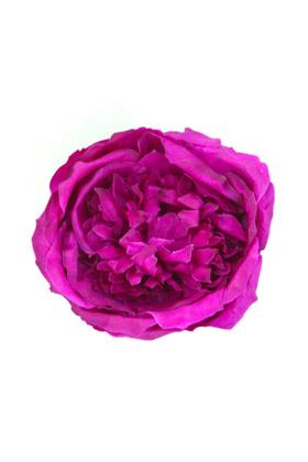 Yapay Çiçek Deposu - Yapay Tek Kafa Şakayık Gül Koyu Mor 12 cm