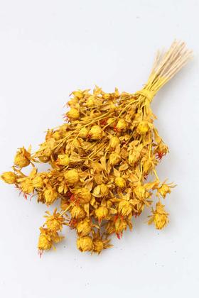 Yapay Çiçek Deposu - Kuru Çiçek Kartamus Sarı