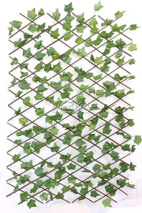 Yapay Çiçek Deposu - Yapay Sarmaşık Açılır Kapanır Ahşap Çit Büyük Üçgen Model 60x240 cm