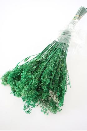 Yapay Çiçek Deposu - Şoklanmış Ara Dal Bitkisi Demeti 40 cm Yeşil