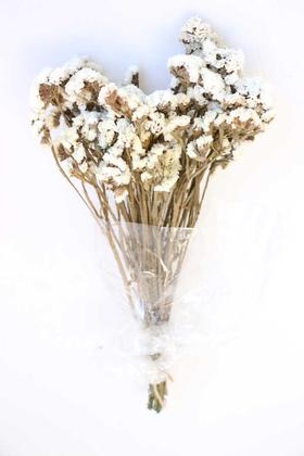 Yapay Çiçek Deposu - Şoklanmış Statis Çiçeği Demeti 50 cm Beyaz