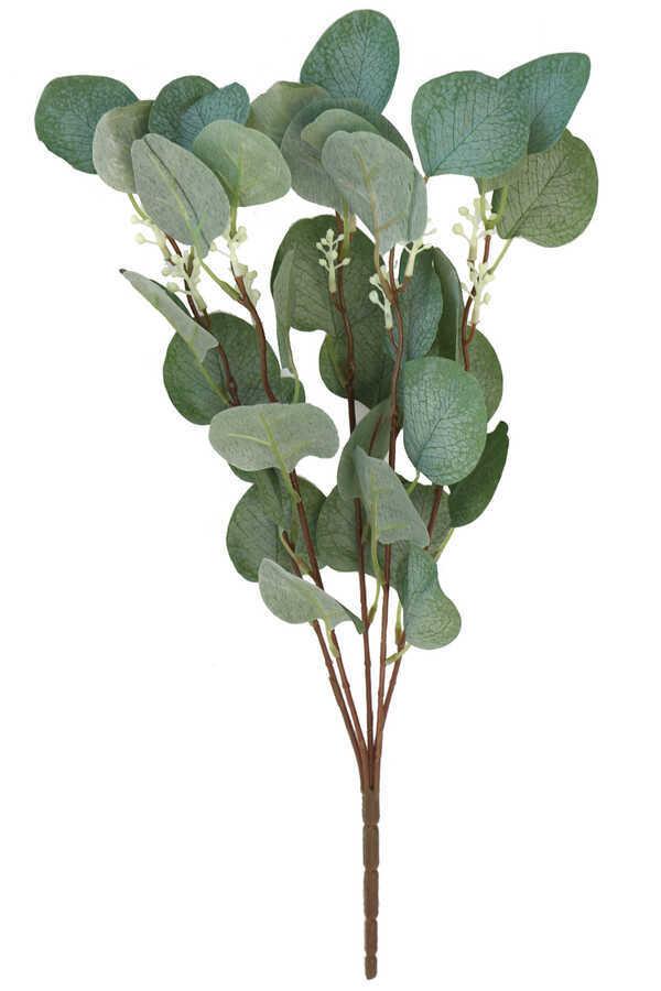 Yapay Okaliptus Demeti İri Yapraklı 45 cm Mat Yeşil