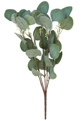 Yapay Okaliptus Demeti İri Yapraklı 45 cm Mat Yeşil - Thumbnail