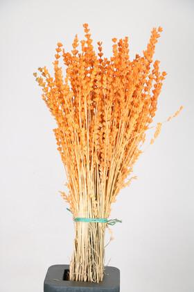 Yapay Çiçek Deposu - Şoklanmış Dökülmeye Dayanıklı Gerçek Lavanta Demeti Turuncu (80 gr)