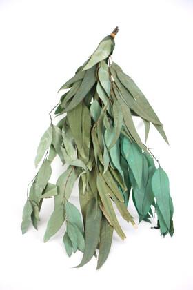 Yapay Çiçek Deposu - Şoklanmis Söğüt Okaliptus Demeti Yeşil