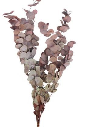 Yapay Çiçek Deposu - Şoklanmis Okaliptus Demeti Kızıl(Büyük Demet)