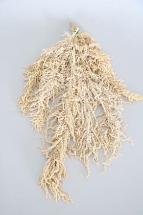 Yapay Çiçek Deposu - Şoklanmış Sarkan Amaranthus Demeti Beyaz-Krem