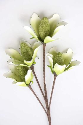 Yapay Çiçek Deposu - Exclusive Yapay Çiçek 4 Tropik Meyveli Lateks Dal Yeşil