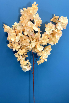 Yapay Çiçek Deposu - Yapay Kaliteli Kabarık Bahar Dalı 95 cm Somon