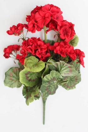 Yapay Çiçek Deposu - Yapay Çiçek Büyük Sardunya Demet Kırmızı