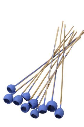 Yapay Çiçek Deposu - Dekoratif Küçük Bell Cup 10lu Tropic Kabak Saks Mavi
