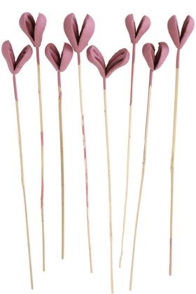 Yapay Çiçek Deposu - 8li Benzo Tropic Fruit Kuru Çiçek Soft Pembe