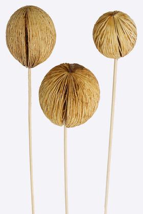 Yapay Çiçek Deposu - 3 Boy Mintola Ball 40 cm Beyazlatılmış