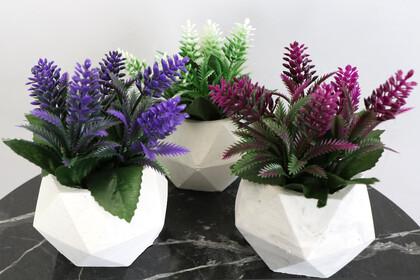 Beton Saksıda Yapay Bitki 3lü Set Model 3 - Thumbnail