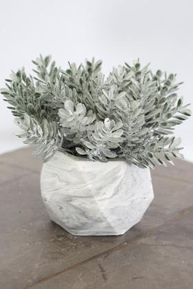 Yapay Çiçek Deposu - Beton Saksıda Yapay Masa Çiçeği Model 14