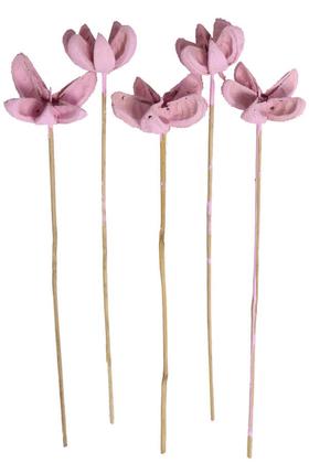 Yapay Çiçek Deposu - Tropic Bullet Flower Kuru Çiçek Tropik 5li Lila