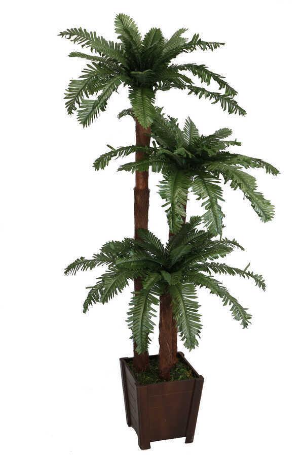Ucuz Yapay Ağaç 3 Gövdeli Afrika Palmiyesi 160 cm