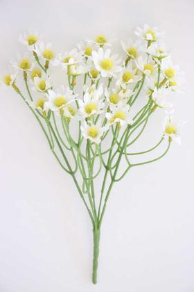 Yapay Çiçek Deposu - Ucuz yapay çiçek 35 kafa papatya demeti (beyaz)