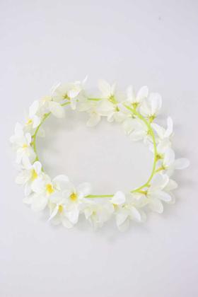 Yapay Çiçek Deposu - Portakal Çiçeği Taci 60 cm Beyaz