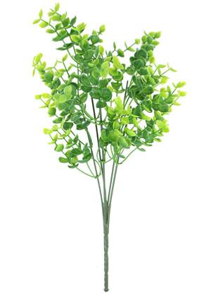 Yapay Çiçek Deposu - Yapay 5 Dallı Yeşillik Şimşir Demeti 32 cm