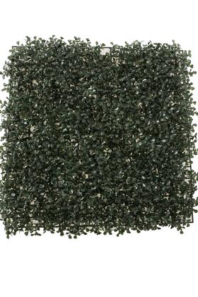 Yapay Çiçek Deposu - U.V Dayanımlı Yapay Çim Karo Tabaka Şimşir 50 cm x 50 cm Koyu Yeşil