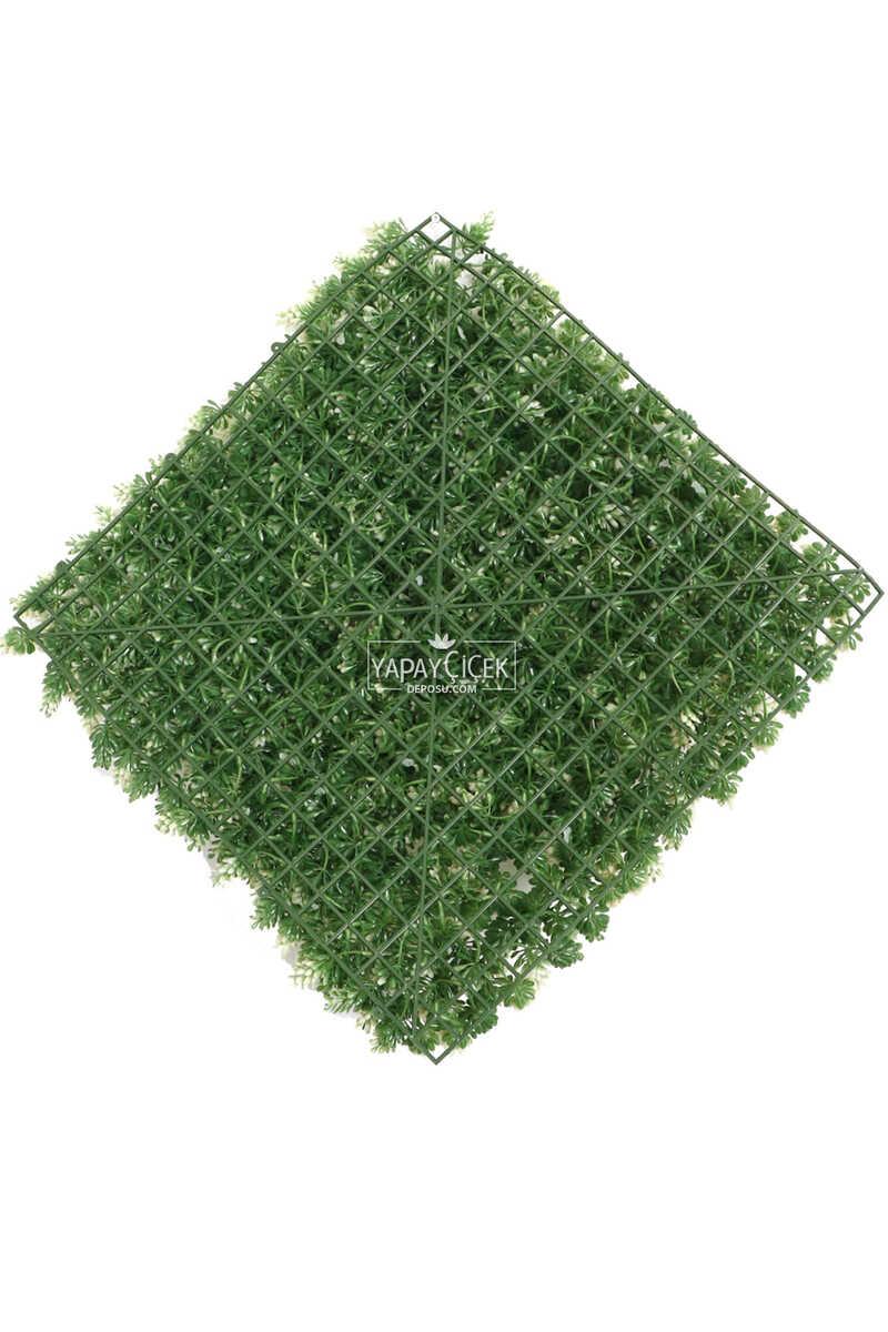 Yapay Çamdalı Model Duvar Bitki Kaplaması 50x50 cm Yeşil-Beyaz