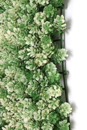 Yapay Çamdalı Model Duvar Bitki Kaplaması 50x50 cm Yeşil-Beyaz - Thumbnail
