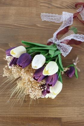 Yapay Çiçek Deposu - Viola Yapay Gelin Çiçeği 2li Set
