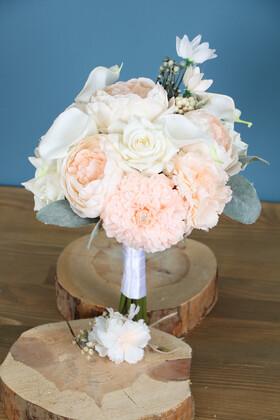 Yapay Çiçek Deposu - Gelin Buketi Ventus 2li Set